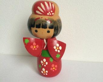 Vintage Kokeshi Doll,  Made in Japan