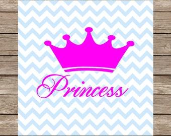 Princess SVG files Princess silhouette girl svg crown avg Cut File Cricut Silhouette vinyl heat transfer pink svg avg design pretty in pink