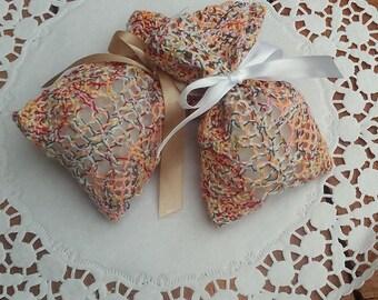 Boho Favor Bag - Boho Wedding Favour Bag- Crochet Lace Favor Bag - Rustic Wedding Favor - Gift Bag - Rustic Wedding - Set of 25
