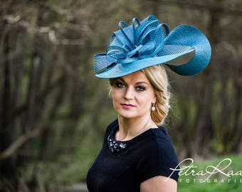 Hat Royal Ascot has ball Hat Kentucky-Derby horse racing has couture millinery Sinamay wedding Fascinator U18