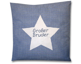 Cushion bigger brother name pillows, pillow with name, pillow baby brother