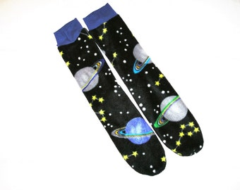 Solar system socks etsy for Solar system fleece
