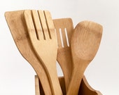 SALE!! Ready to ship! Bamboo Utensil Set, Cooking Utensils