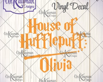 DIY Iron On Vinyl Harry Potter Inspired Personalized House of Hufflepuff Decal