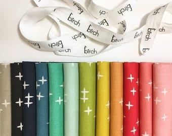 PRECUT Wink Fat Quarter [12 prints] - Birch Fabrics (FQB-MB3-WINK) - Organic Cotton