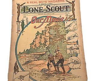 The Real Boys Magazine    Lone Scout    Our Movie Fishin June 17 1916    Perry Emerson Thompson