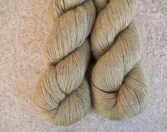 Hand Dyed Yarn Baby Alpaca/Silk/Linen 50/25/25 Fingering Weight - 4ply - 100 grams - 400m/440yards - Old Gold