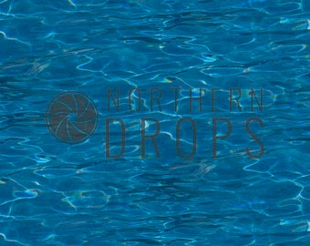 Product Photography Backdrop - BLUE WATER Background - Pool of blue water with ripples photo backdrop - Water printed backdrop - 3 sizes