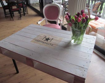 "Pallet furniture * dining table ""White Star kitchen"""