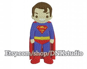 Cute Superman Embroidery Design