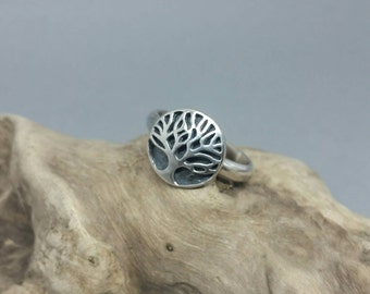 Tree of life statement ring, silver tree ring, forest jewellery, sterling silver ring, handmade ring, nature ring.