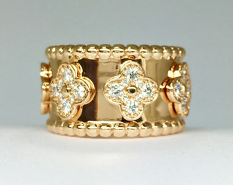 1.26 carat Diamond 18-K Pink Gold Band