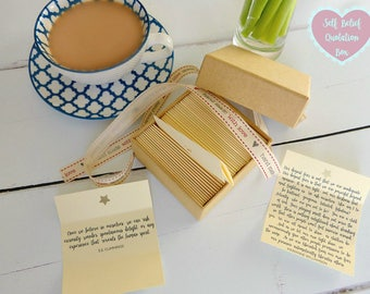 Self Belief Quotes - Box of 50 Handmade Quotations