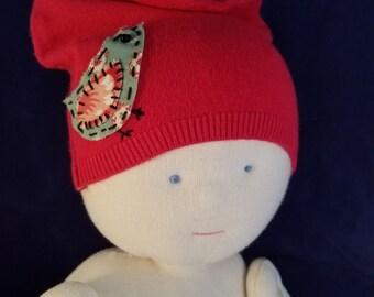 Cashmere Baby Hat - size newborn to 6 months
