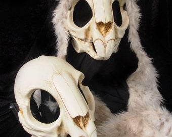 Rodent / Rabbit Skull Mask - Bone Painted