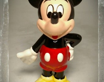 Collectible Mickey Mouse Figurine / Disney Knick Knack / Disneyana / Mouse Figurine / Cake Topper / Best Gift Idea  / F1394