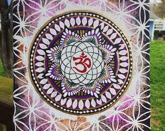 Purple Om Mandala