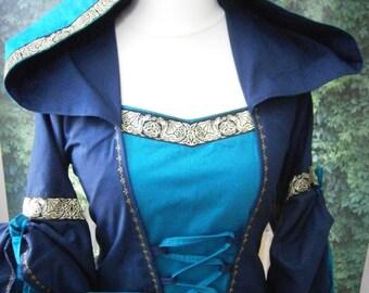 Widows Hood, Add on for Renaissance Dress, Medieval Gown , Tudor , LARP