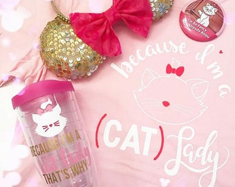 Cat Lady Acrylic Tumbler