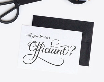 Will you be our officiant card - Officiant card - Officiant proposal - C005-7