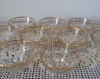 Cuts glass gilding Deco cups