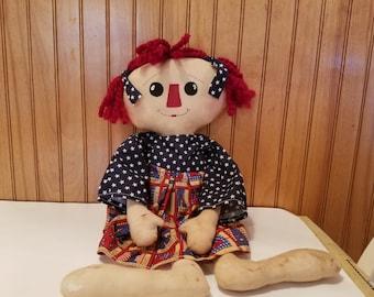 Patriotic Raggedy Ann Doll