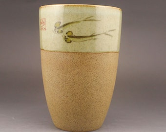 N3435 Chinese Porcelain Lucky Fish Cup
