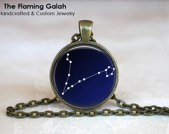 PISCES CONSTELLATION Pendant • Pisces Astrology • March Birth Sign • March Star Sign • Gift Under 20 • Made in Australia (P1074)