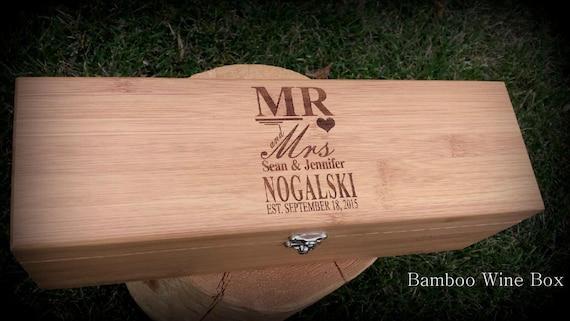 Wedding Gift Letter Box : Wine Gift Box Wedding Wine Box Personalized Bride & Groom Gift 5th ...