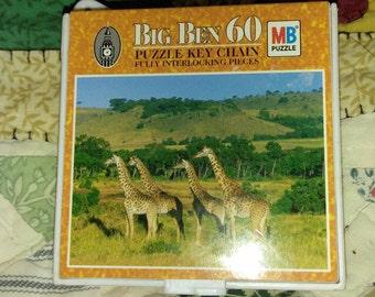 Pair of Hasbro Big Ben miniature puzzle Key Chains