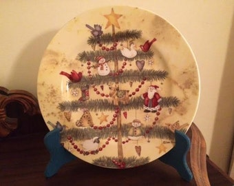 Adorable Decorative Christmas Tree Cookie Plate