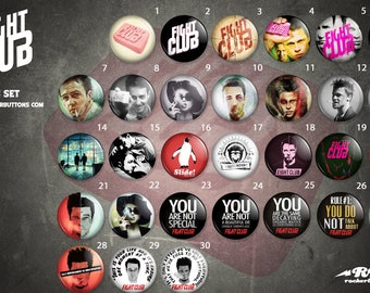 Collection plates the fight club / / Fight Club button collection
