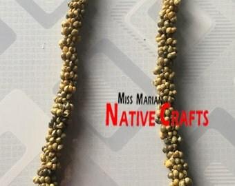 Green Mongo Shells Leis, Necklaces, Mongo Shells (Minimum order=50pcs)