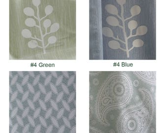 Garden style 75% blackout geometry pattern curtains, customized modern bedroom blinds curtain for living room (2 panels,10 types for choice)