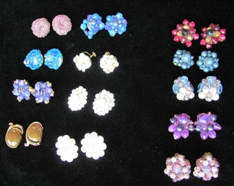 Vintage German Earrings, 13 Pairs