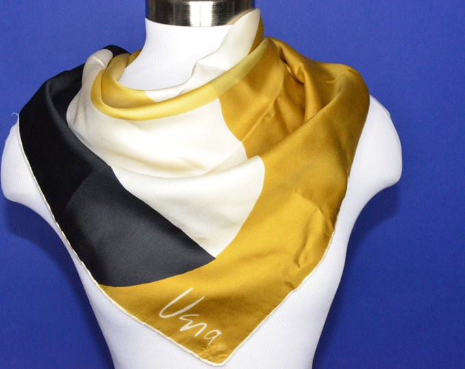 Vintage Estate Vera Gold Piece Collection Scarf Made in Italy
