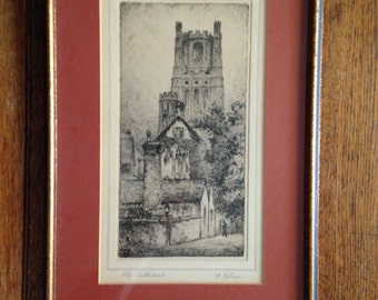 Ely Cathedral Etching