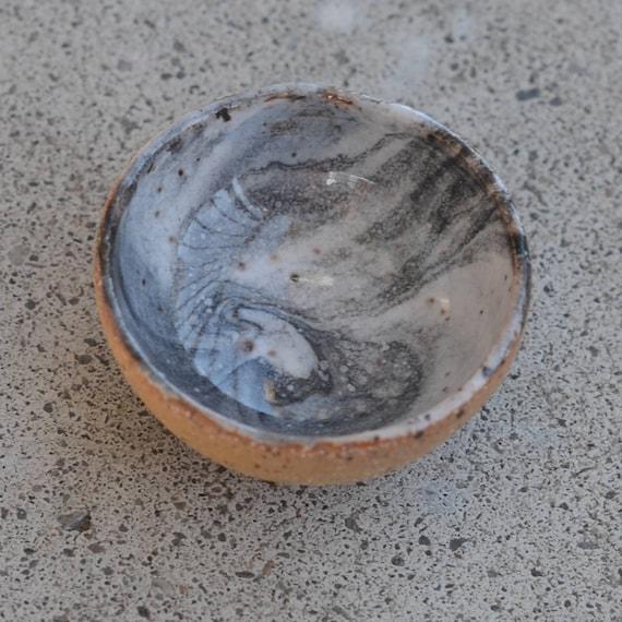 Tiny ceramic marbled bowl