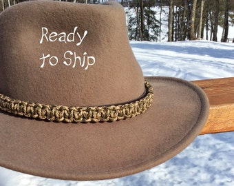 Cowboy hat.Cowboy hatband.  Cowgirl accessories.Cowgirl Hat. Beaded hatband.King cobra strap.Woven hat band.Paracord hatb.and.Gifts for her.