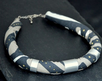 Wax- print Necklace