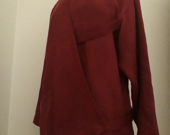 SOLD *** Original Vintage 1980s Issey Miyake Linen Assymetrical Tunic Size Small