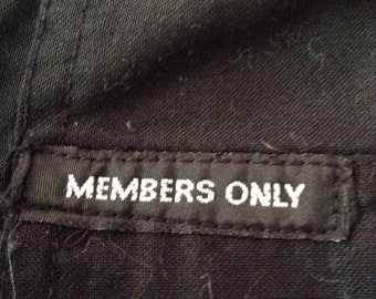 Members only shirt black large