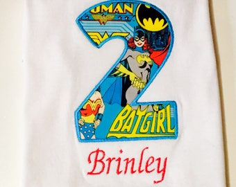 Last Minute Birthday Shirt-Superhero Girl Shirt- Ships Fast!