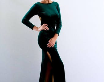 Anastasia Gown in Velvet with Long Sleeves