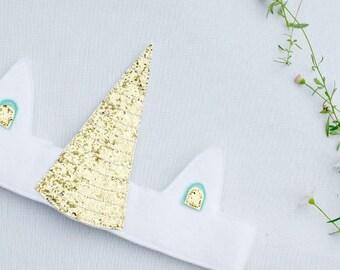 Unicorn crown  - Unicorn headband - Unicorn birthday outfit -Unicorn Horn - Unicorn costume - Unicorn birthday party - Unicorn party hat