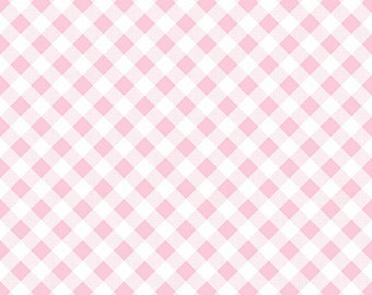 Pink Gingham One Yard Cut from Sew Cherry 2 from Lori Holt for Riley Blake Fabrics