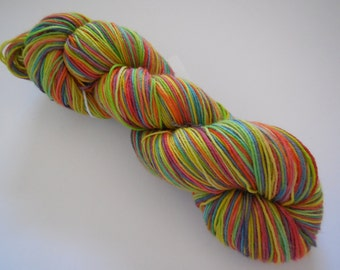 Taste The Rainbow Hand Dyed Superwash Merino/ Nylon Sock Yarn