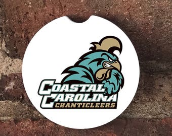 Custom Coastal Carolina Sandstone Auto Cup Holder Coasters (set of2) Absorbent Sandstone Personalized Car Coasters (set of2)Gift Ideas