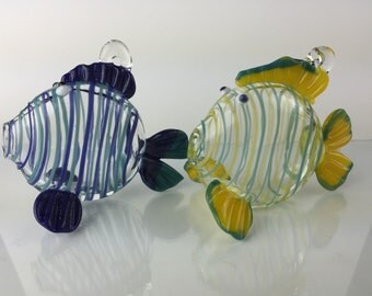 Deluxe glass fish ornament - mto