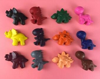 8 Dinosaur Crayons - Dino Crayons - Colouring - Dinosaur Party - Dino Party - Party Favours - Dinosaur Gift - Birthday Gift